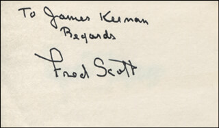 FRED L. THE SINGING BUCKAROO SCOTT - AUTOGRAPH NOTE SIGNED