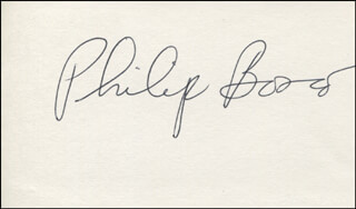 PHILIP BOSCO - AUTOGRAPH