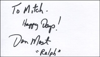 DONNY MOST - AUTOGRAPH NOTE SIGNED