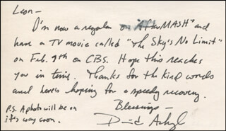 DAVID ACKROYD - AUTOGRAPH LETTER SIGNED