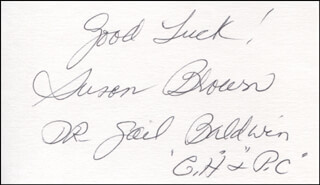 SUSAN BROWN - AUTOGRAPH SENTIMENT SIGNED