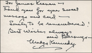 MADGE KENNEDY - AUTOGRAPH NOTE SIGNED