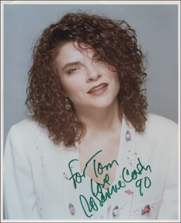ROSANNE CASH - AUTOGRAPHED INSCRIBED PHOTOGRAPH 1990
