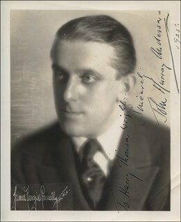 JOHN MURRAY ANDERSON - AUTOGRAPHED INSCRIBED PHOTOGRAPH 1925