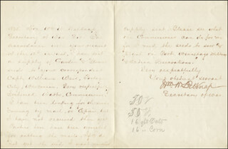 Autographs: MAJOR GENERAL WILLIAM W. BELKNAP - AUTOGRAPH LETTER SIGNED 03/12/1875