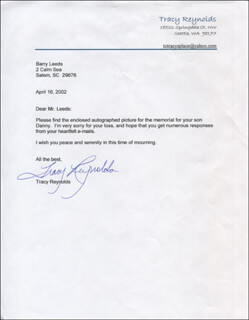 TRACY REYNOLDS - TYPED LETTER SIGNED