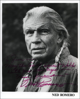NED ROMERO - INSCRIBED PRINTED PHOTOGRAPH SIGNED IN INK