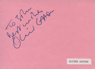 OLIVER COTTON - AUTOGRAPH NOTE SIGNED