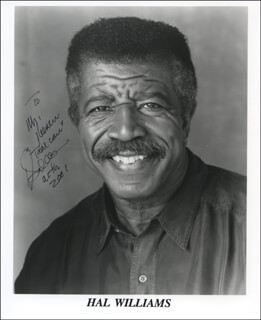HAL WILLIAMS - INSCRIBED PRINTED PHOTOGRAPH SIGNED IN INK 2001