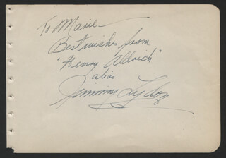 JIMMY LYDON - AUTOGRAPH NOTE SIGNED