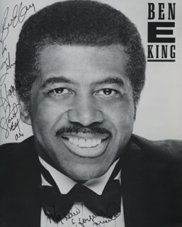 BEN E. KING - INSCRIBED PRINTED PHOTOGRAPH SIGNED IN INK