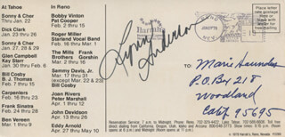 LYNN ANDERSON - ADVERTISEMENT SIGNED CIRCA 1978  - HFSID 325003