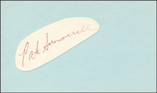 PAT SUMMERALL - AUTOGRAPH