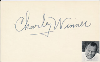 CHARLEY WINNER - AUTOGRAPH