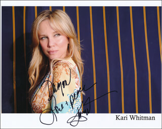 KARI KENNELL WHITMAN - INSCRIBED PRINTED PHOTOGRAPH SIGNED IN INK
