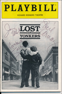 LOST IN YONKERS PLAY CAST - SHOW BILL COVER SIGNED CO-SIGNED BY: LUCIE ARNAZ, JAMIE MARSH, GRAHAM SACK