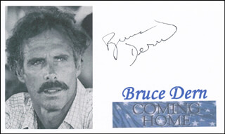 BRUCE DERN - PRINTED PHOTOGRAPH SIGNED IN INK
