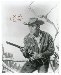 CHUCK CONNORS - PRINTED ILLUSTRATION SIGNED IN INK