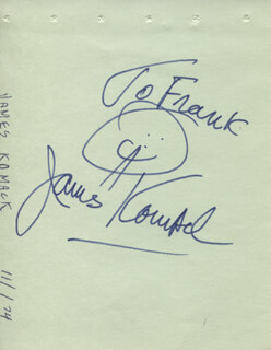 JAMES JIMMIE KOMACK - INSCRIBED SIGNATURE CIRCA 1974