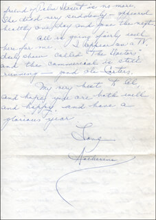 KATHERINE MESKILL - AUTOGRAPH LETTER SIGNED 01/12/1966