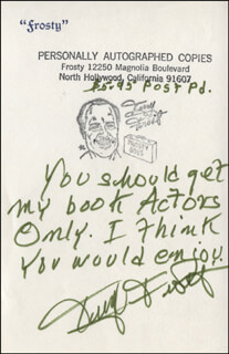TERRY FROST - AUTOGRAPH NOTE SIGNED