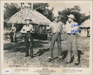 WARREN STEVENS - AUTOGRAPHED SIGNED PHOTOGRAPH