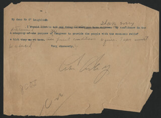 PRESIDENT CALVIN COOLIDGE - TYPED LETTER SIGNED