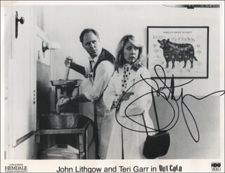 JOHN LITHGOW - PRINTED PHOTOGRAPH SIGNED IN INK