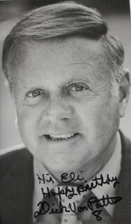 DICK VAN PATTEN - AUTOGRAPH NOTE ON PHOTOGRAPH SIGNED TWICE