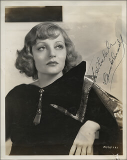 TALLULAH BANKHEAD - AUTOGRAPHED SIGNED PHOTOGRAPH