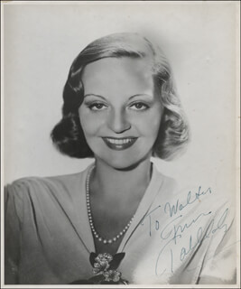 TALLULAH BANKHEAD - AUTOGRAPHED INSCRIBED PHOTOGRAPH