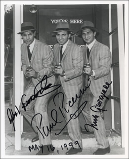 UNTOUCHABLES TV CAST - AUTOGRAPHED SIGNED PHOTOGRAPH 05/16/1999 CO-SIGNED BY: PAUL PICERNI, NICK GEORGIADE, ABEL FERNANDEZ