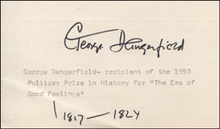 GEORGE DANGERFIELD - TYPED CARD SIGNED
