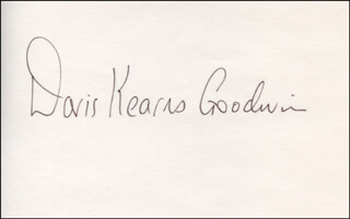 DORIS KEARNS GOODWIN - AUTOGRAPH