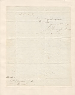 Autographs: ALBERT GALLATIN - AUTOGRAPH LETTER SIGNED 08/21/1806