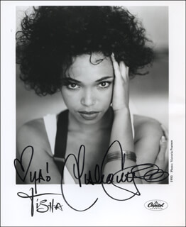 TISHA CAMPBELL-MARTIN - PRINTED PHOTOGRAPH SIGNED IN INK