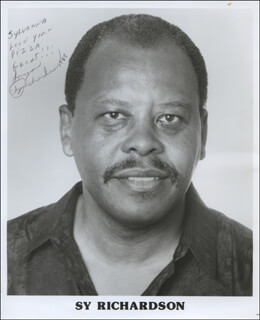 SY RICHARDSON - INSCRIBED PRINTED PHOTOGRAPH SIGNED IN INK 1989