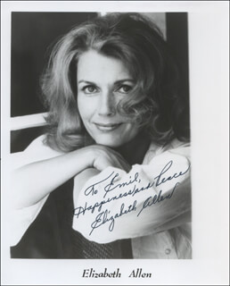 Autographs: ELIZABETH ALLEN - INSCRIBED PRINTED PHOTOGRAPH SIGNED IN INK