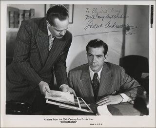 DANA ANDREWS - INSCRIBED PRINTED PHOTOGRAPH SIGNED IN INK