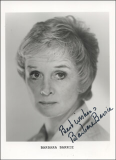 BARBARA BARRIE - PRINTED PHOTOGRAPH SIGNED IN INK