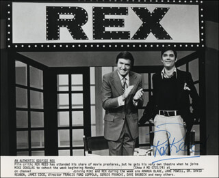REX REED - PRINTED PHOTOGRAPH SIGNED IN INK
