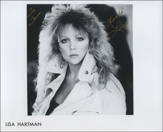 LISA HARTMAN - INSCRIBED PRINTED PHOTOGRAPH SIGNED IN INK