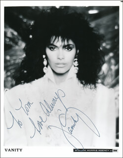 DENISE VANITY MATTHEWS - INSCRIBED PRINTED PHOTOGRAPH SIGNED IN INK