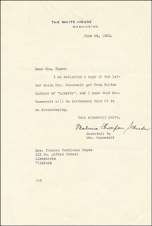 MALVINA TOMMY THOMPSON - TYPED LETTER SIGNED 06/24/1933