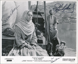 THE BIG FISHERMAN MOVIE CAST - PRINTED PHOTOGRAPH SIGNED IN INK TWICE CO-SIGNED BY: HOWARD KEEL, SUSAN KOHNER