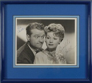 DU BARRY WAS A LADY MOVIE CAST - AUTOGRAPHED SIGNED PHOTOGRAPH CO-SIGNED BY: LUCILLE LUCY BALL, RED SKELTON