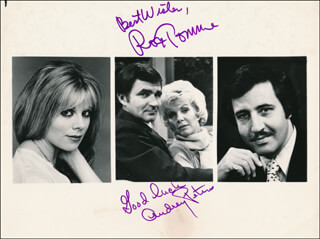LOVE OF LIFE TV CAST - AUTOGRAPHED SIGNED PHOTOGRAPH CO-SIGNED BY: AUDREY PETERS, RON TOMME