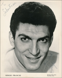 SERGIO FRANCHI - INSCRIBED PRINTED PHOTOGRAPH SIGNED IN INK