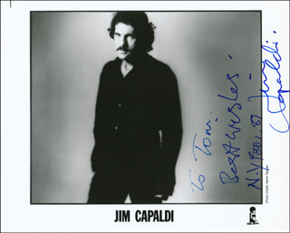 JIM CAPALDI - AUTOGRAPHED INSCRIBED PHOTOGRAPH 02/01/1987