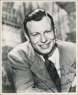 HAROLD RUSSELL - AUTOGRAPHED INSCRIBED PHOTOGRAPH